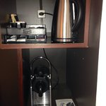 Tea and coffee making facilities including Nespresso machine.