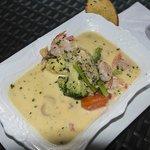Yum ... prawn soup!