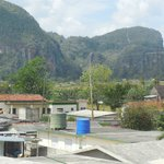 The wonderful view of the famous Vinales mountains