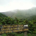 ruta hacia el Volcán de La Vieja