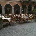 I tavolini all'esterno