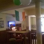 Bottom End Of Main Bar Decorated For St. Patricks Day