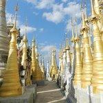 En haut de la pagode