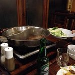 The Hot Pot cooked on our table - yummy