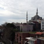 blue mosque from terrace