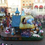 Pinocchio & Alice float from our window in Walt's.