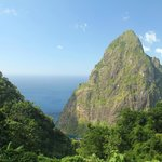 View of Petite Piton from the ridge behind Fond Doux.