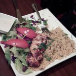 To Die For Chicken Dish, Flavored Rice, and Tasty Salad