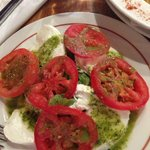 Salad with Mozzarella cheese and tomatoes