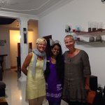 Happy moment in the villa with charming coordinator