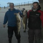 Skipper and Chris Darke 1st and 2nd Place in a Scarborough Boat Angling Club Match