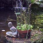 Lovely statuary at the Koi Pond