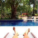 """The view from my lounger outside my room! I called this my office at my """"other home"""""""