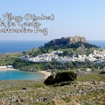 Lindos Village with Lindos Castle
