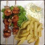 barbeque prawns & fries