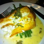Halibut in a lemon-butter caper sauce and pommes Anna