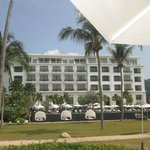 vu de l'hotel depuis la plage