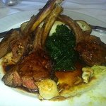 Crossings - Colorado Lamb Chops - tuscan kale, pearl onion, pistachio whipped potato, quince & m
