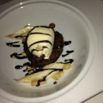 Crossings - Brownie topped with salted caramel ice cream - Photo by My D