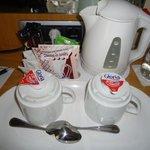 Free Coffee, chocolate and Milk