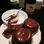 See the Wet and Dessert Bar! Chocolate cream puffs+red wine =LOVE