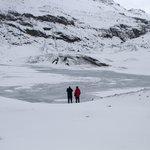 Ready to walk on the glacier