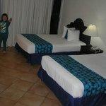 Notre chambre avec 2 lits doubles
