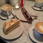 Cappuccino, eclair, salty caramel cake!