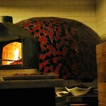 coal fire pizza oven at tonys
