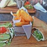 Greek burger... Great chips