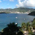 view of Charlotte Amalie from Jost Van Dyke room