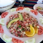 Our yummy ceviche de camaron during our reststop