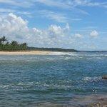 vista de la playa del río caraíva