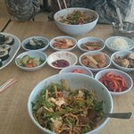 Bibimbab, kimbab and all the side dishes!