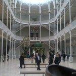 inside the museum of Scotland Edinburgh