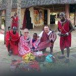 племя масаев в гостях