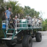 Swamp buggy ride allows seniors & those unable to walk enjoy Corkscrew Swamp with a guide to exp