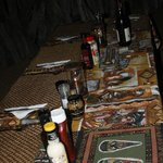 set dinner table when we returned from game drive - self catering the perfect way !