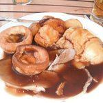 lamb roast dinner at the windmill without veg,scrummy.