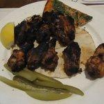 BBQ chicken wings, very tasty!