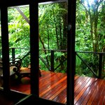 Porch overlooking rainforest