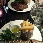 20oz steak and Seabass - Crowne Plaza Birmingham NEC