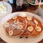 Banana/Pecan pancakes...perfect!