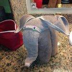Serviette éléphant