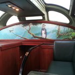 Inside of the tourist car.