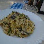 delicious pasta with mushrooms