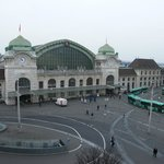 view from our balcony, overlooking the sbb station