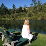 Relaxing by the Waikato River