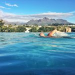 The infinity pool at The Kleine Zalze lodge