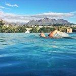 The infinity pool at The Kleine Zalze lodge